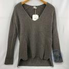 BRAND楓月 HERMES 愛馬仕 灰色 大V領 100%喀什米爾 毛衣 #36 男女可穿 上衣 冬裝