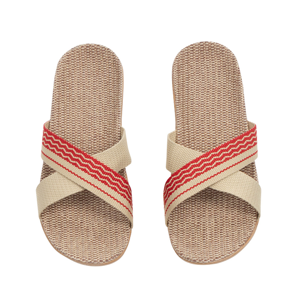 亞麻拖鞋 室內外居家拖鞋 海灘涼鞋 透氣 涼爽 女【N010】