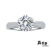 蘇菲亞SOPHIA - 相印1.00克拉FVVS1鑽石戒指