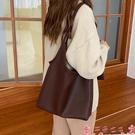 子母包托特包女大容量韓版簡約側背包2021新款素色輕便軟皮子母大包包潮 芊墨左岸