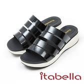 ★2017秋冬新品★itabella.簡約厚底拖鞋(7345-98黑)