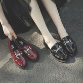 樂福鞋 懶人鞋 單鞋女2018秋季平底鞋學院風樂福鞋懶人鞋女休閒小皮鞋女鞋潮