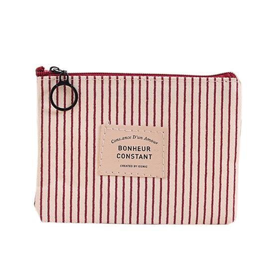 簡約牛津布零錢包 收納包 化妝包 防水 拉鍊式  短款小錢包 鑰匙包【P521】♚MY COLOR♚