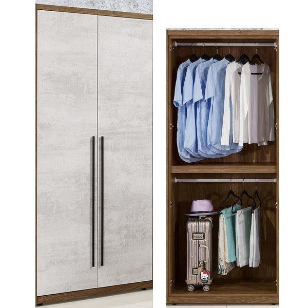 衣櫃 衣櫥 QW-101-4 緹諾2.64尺雙吊衣櫃【大眾家居舘】