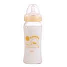 【奇買親子購物網】黃色小鴨 PiYO PiYO 寬口徑葫蘆玻璃奶瓶280ml