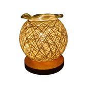 插電香薰燈精油家用臥室靜音床頭燈個性創意麻球小台燈睡眠香薰爐 情人節禮物