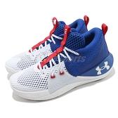 Under Armour UA 籃球鞋 Embiid 1 白 藍 紅 費城 七六人 男鞋【ACS】 3023086107