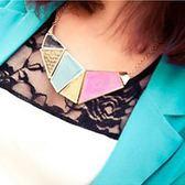※現貨 幾何方塊假領項鏈【VM47067】