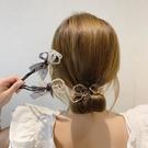 盤髪器 2021韓國春夏新款丸子頭盤髮器網紅懶人水晶蝴蝶結編髮造型神器女