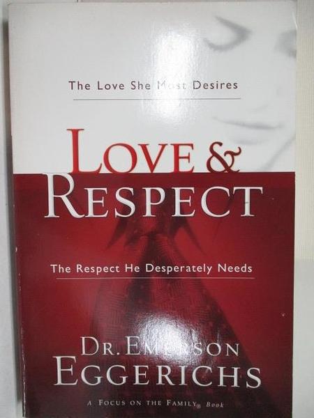【書寶二手書T1/宗教_DMT】Love and Respect_Emerson Eggerichs