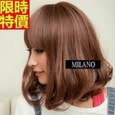 短款假髮-甜美可愛減齡齊瀏海捲髮整頂女美髮用品3色68x36[巴黎精品]