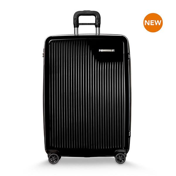 【終身保固 Briggs & Riley 獨家專利 BRSU127CXSP24】新色發售! Sympatico 可擴充 27吋硬殼四輪行李箱-鏡面黑