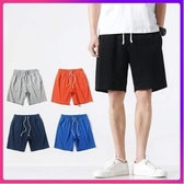 短褲男寬鬆五分褲男士純棉黑色休閒純色運動潮流夏季男生薄款褲子 限時85折