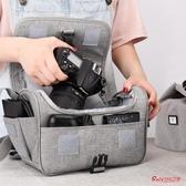 相機包 適用單反相機包女數碼收納包微單袋男鏡頭保護套攝影單肩 2色 快速出貨