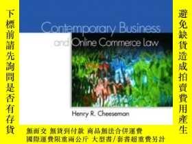 二手書博民逛書店Contemporary罕見Business Law And Online Commerce Law (5th E