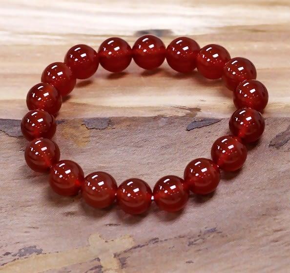 [協貿國際]天然紅瑪瑙圓珠手鍊單個價