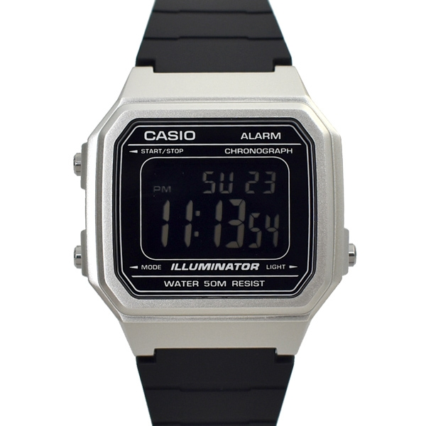 CASIO手錶 復古金屬方型電子膠錶NECD18