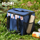 15L保溫袋 戶外露營  生活采家 牛津布 肩背手提 內側鋁箔 防水保溫 方型 包包 便當包 #52003
