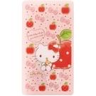 小禮堂 Hello Kitty 扣式口罩夾 面紙包 口罩包 口罩套 口罩收納 (粉 蘋果)4973307-51298
