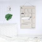 日式無印風墻掛式掛袋 棉麻布藝多層衣柜儲物袋 宿舍床邊收納掛袋 安妮塔小鋪