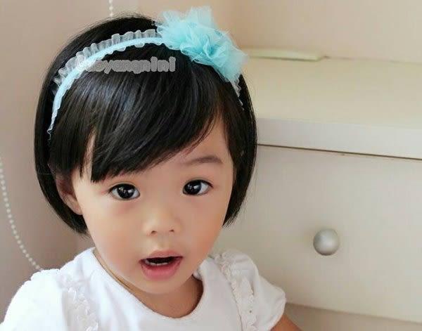 手工髮帶 天鵝絨髮帶網紗愛心款兒童 寶寶 嬰兒 彈性髮帶 拍照 彌月 寫真  果漾妮妮【P3959】