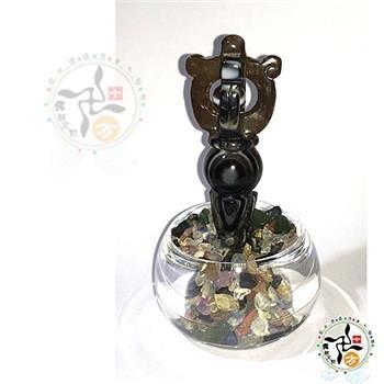 普巴杵(藥師珠)精雕+七寶石+杯座 擺件【十方佛教文物】