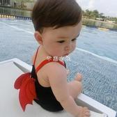 兒童泳衣 兒童泳衣男童0-4歲連體惡魔造型泳裝速幹女孩寶寶游泳衣嬰兒溫泉 全館免運