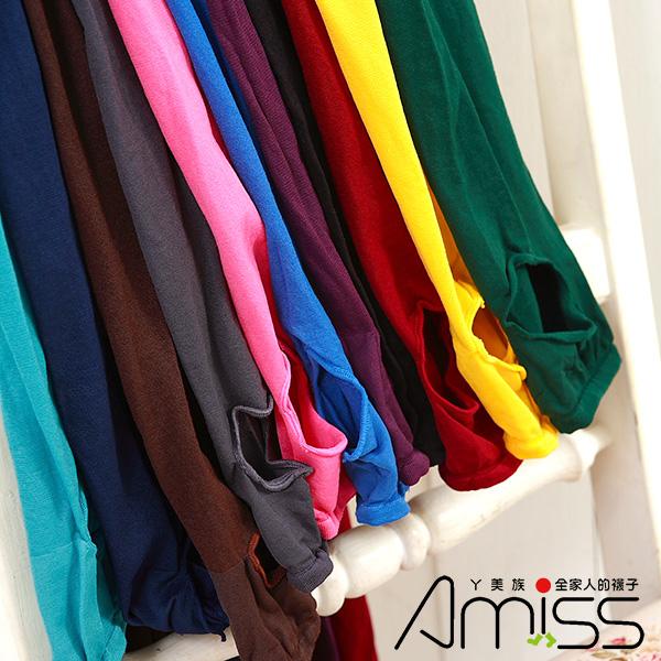 Amiss【A218】雜誌狂推!!天鵝絨彩色彈性踩腳褲襪(多色)