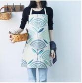 2017新款居家廚房高擋日式加厚棉麻圍裙ASD1240『時尚玩家』