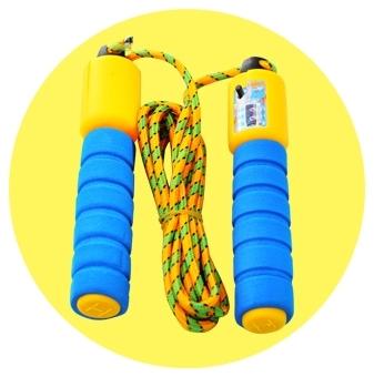 【計數跳繩】健身運動跳繩 海綿握把彈性繩 兒童學生成人