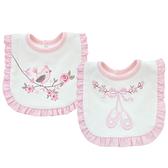 口水巾嬰幼兒雙層純棉繡花圍兜口水巾 AIB小舖