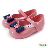 PIMPOLHO 小花蝴蝶結小童鞋-粉橘/藍
