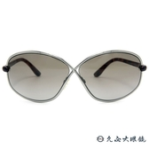 TOM FORD 墨鏡 TF160 (銀-玳瑁) 8字交叉框面 太陽眼鏡 久必大眼鏡