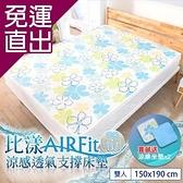 日本藤田 比漾AIR Fit涼感透氣支撐床墊-雙人(贈水洗支撐坐墊x2) 150*190*1.2 cm【免運直出】