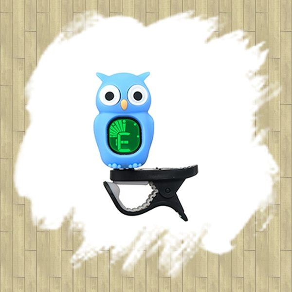 【非凡樂器】SWIFF SFAO-B7 貓頭鷹造型夾式調音器 / 藍色