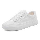 【新飾界】小白鞋女透氣百搭帆布鞋