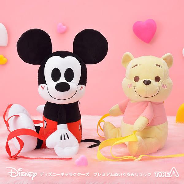 日本進口 米老鼠 米奇 SEGA 日版 Disney迪士尼 景品 絨毛娃娃 造型後背包 A款