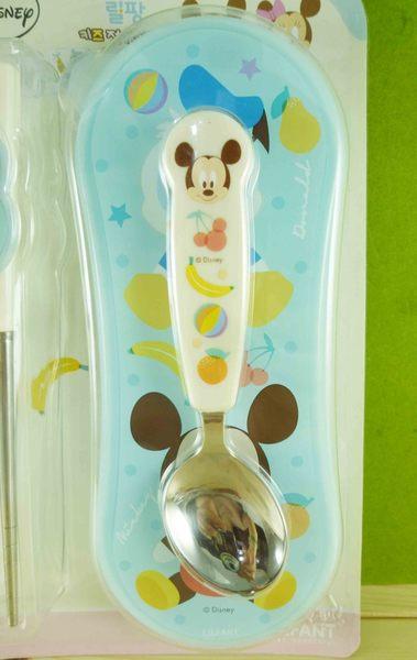 【震撼精品百貨】Micky Mouse_米奇/米妮 ~學習餐具組-藍米奇