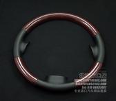 【車王小舖】MAZDA3/馬自達6 半包式紅色純碳纖維+皮革材質方向盤罩