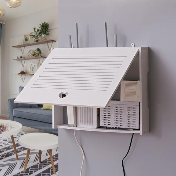 免打孔創意明暗裝路由器弱電箱多媒體箱空開盒裝飾畫配電表遮擋箱 「雙11狂歡購」