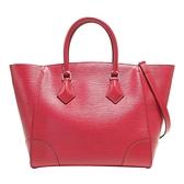 LOUIS VUITTON LV 路易威登 莓紅色EPI水波紋磁釦手提肩背 Phenix PM Bag 【二手名牌BRAND OFF】