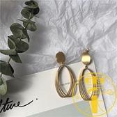 韓國小眾設計感復古耳釘造型耳夾氣質磨砂耳環女【雲木雜貨】