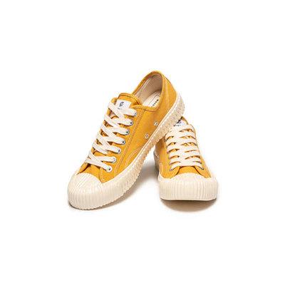 0[TellCathy]EXCELSIOR 餅乾鞋 黃白 焦糖底 帆布鞋 ES_M6017CV_YL