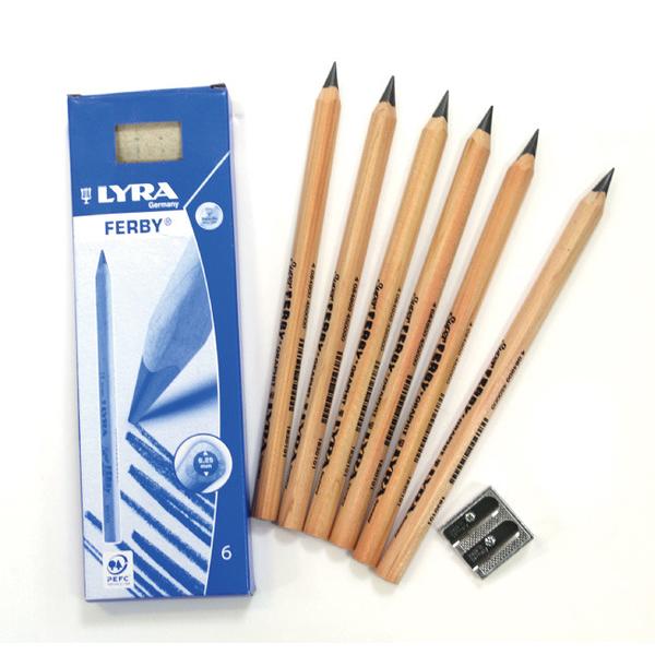 【德國LYRA】兒童三角原木鉛筆(17.5cm) 6入 產地:德國 *加贈:原廠削筆器