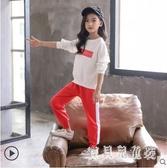 女童套裝 2019秋裝新款洋氣上衣套裝韓版時髦運動休閑套裝 YN1242『寶貝兒童裝』