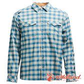 【wildland 荒野】男 彈性抗UV格子長袖襯衫『湖水藍』0A71206 吸濕 快乾 排汗 運動 襯衫 登山 排汗衫