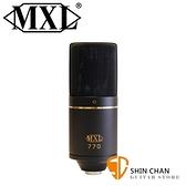 【缺貨】美國品牌 MXL 770 電容式麥克風 心形指向【含避震架/攜行盒】