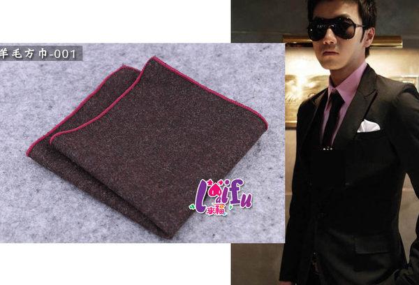 ★依芝鎂★k891口袋巾羊毛多款西裝口袋巾西裝手帕巾,單口袋巾150元