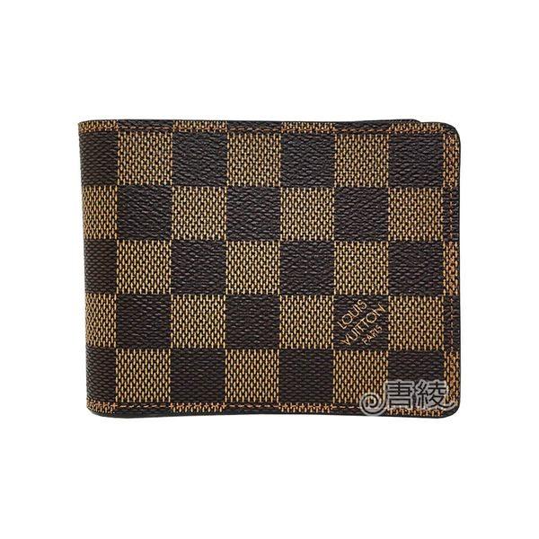 【Louis Vuitton 路易威登】N60895 Damier棋盤格短夾