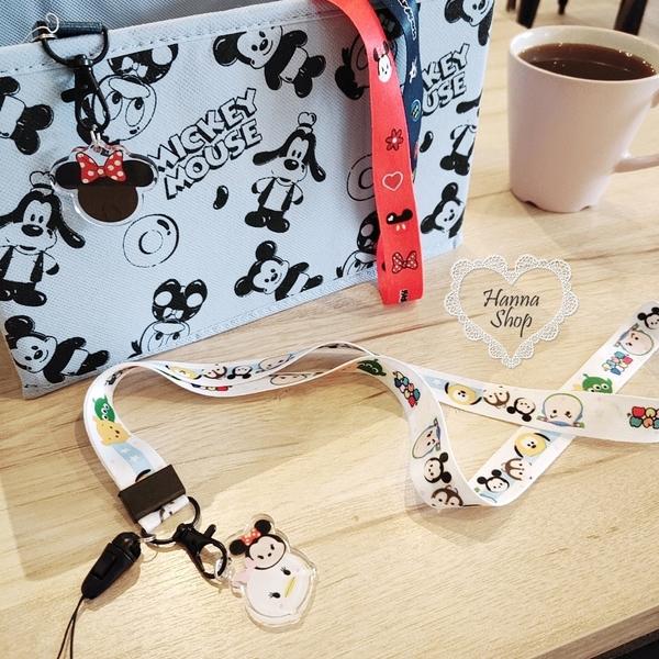 《花花創意会社》韓國。維尼小新迪士尼史奴比卡通證件吊飾掛繩獨家粗款扣式 有五款【H6863】